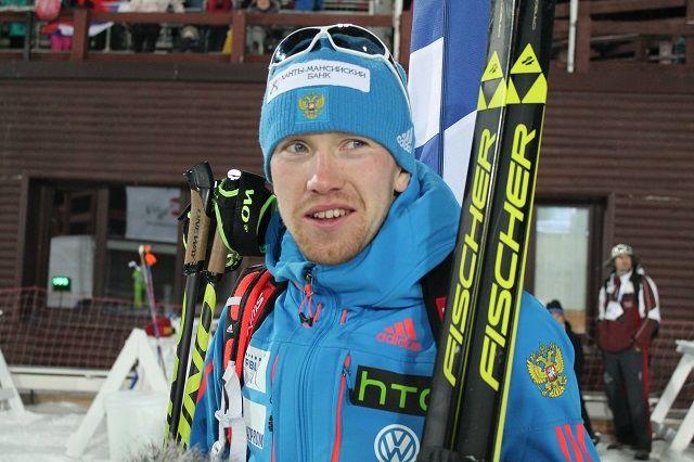 Биатлонист Алексей Волков