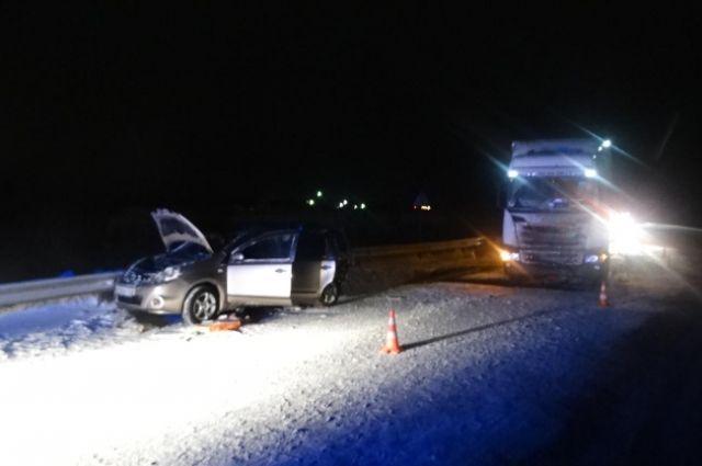 Авария произошла на 15 км трассы Нефтеюганск - Сургут