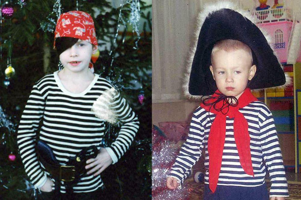 Младший брат Натальи Зверевой и её сын Фёдор - оба бравые пираты.