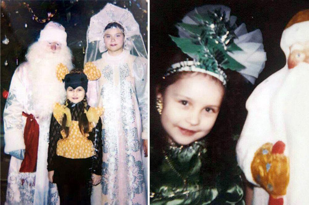 """Екатерина Степанюк, корреспондент """"АиФ-Челябинск"""", примеряла на Новый год костюмы мышки и ёлочки."""