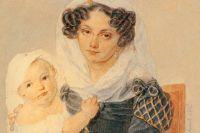 Портрет княгини Волконской с сыном Николаем (1826 год). В сибирской ссылке она провела около 30 лет.