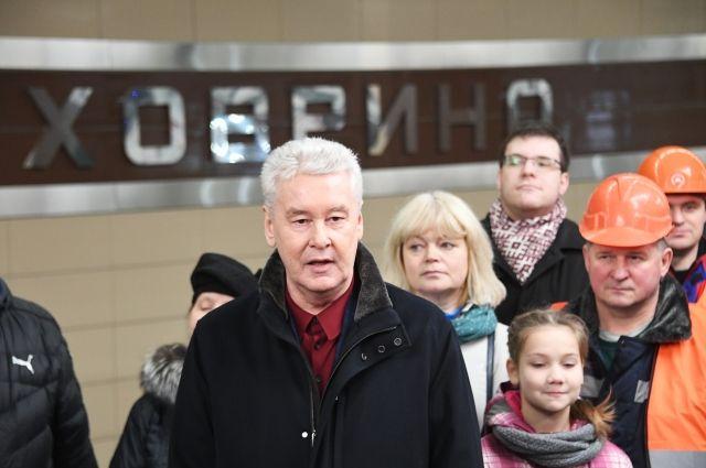 Собянин открыл станцию «Ховрино» Замоскворецкой линии метро