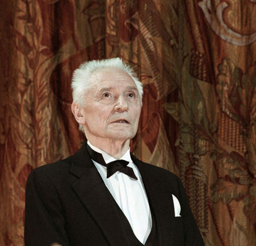 Юрий Григорович на сцене Государственного академического Большого театра России. 2004 г.