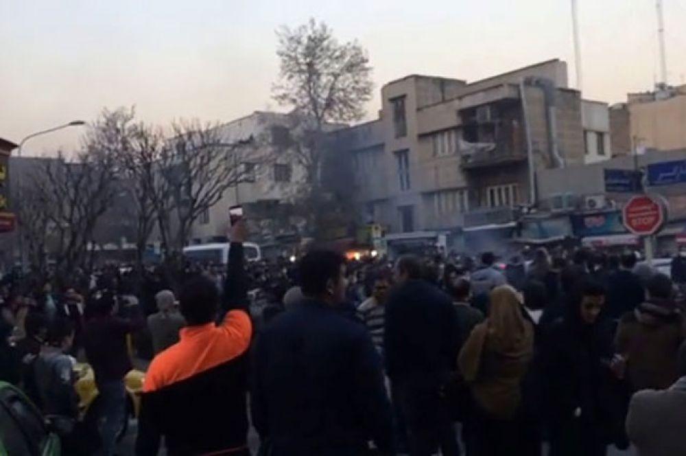 Беспорядки в Тегеране.