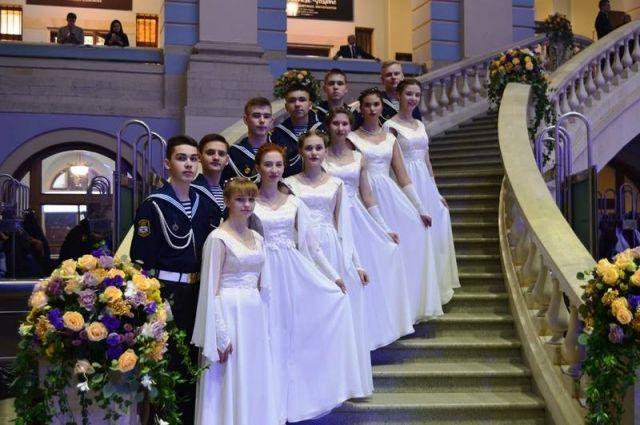 Участниками II Международного Кремлёвского кадетского бала стали 12 кадетов Архангельского морского кадетского корпуса.