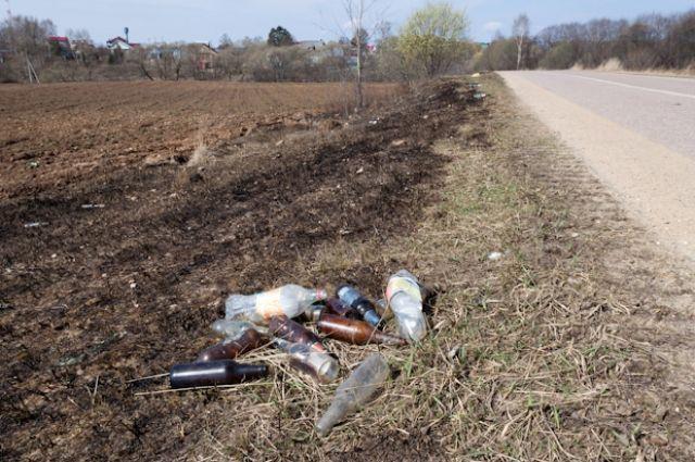 В Украине будут штрафовать водителей, которые мусорят на обочине