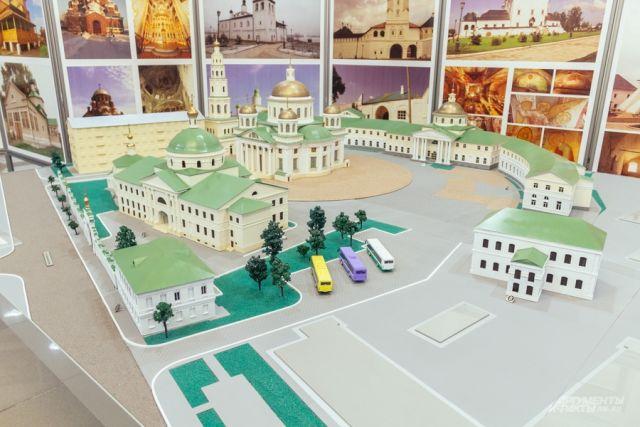 Вот так будет выглядеть возрожденный Богородицкий монастырь (макет из представительского корпуса Казанского кремля.