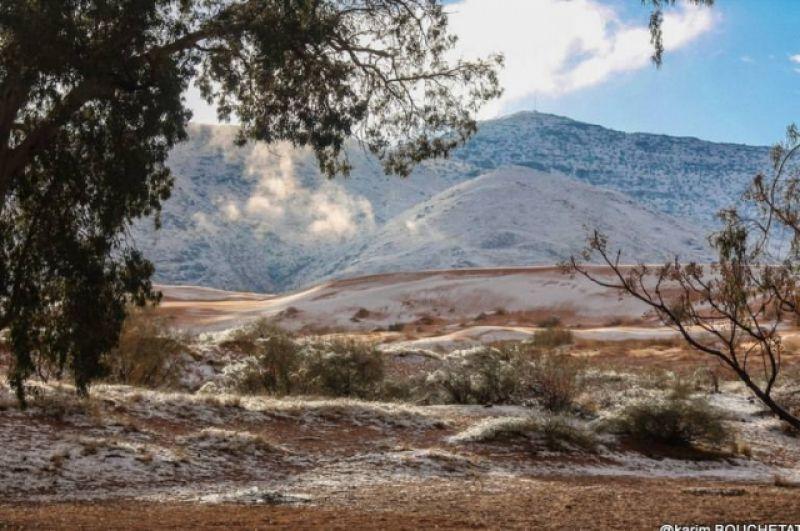 сейчас в Сахаре снега осталось очень мало.