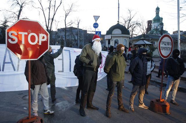 Митинг у Киево-Печерской Лавры.