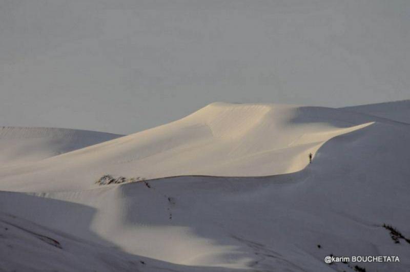За последние тридцать лет снег в Сахаре выпадал три раза, и последние два - в 2016 и в этом году.