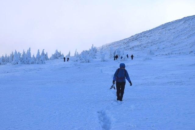 Подъём на гору Иремель зимой сложен, а погода на вершине непредсказуема