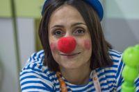 Татьяна Антипина в образе клоуна Форточки.