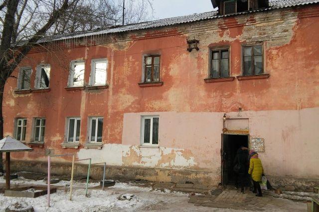 Аварийный дом в Барнауле