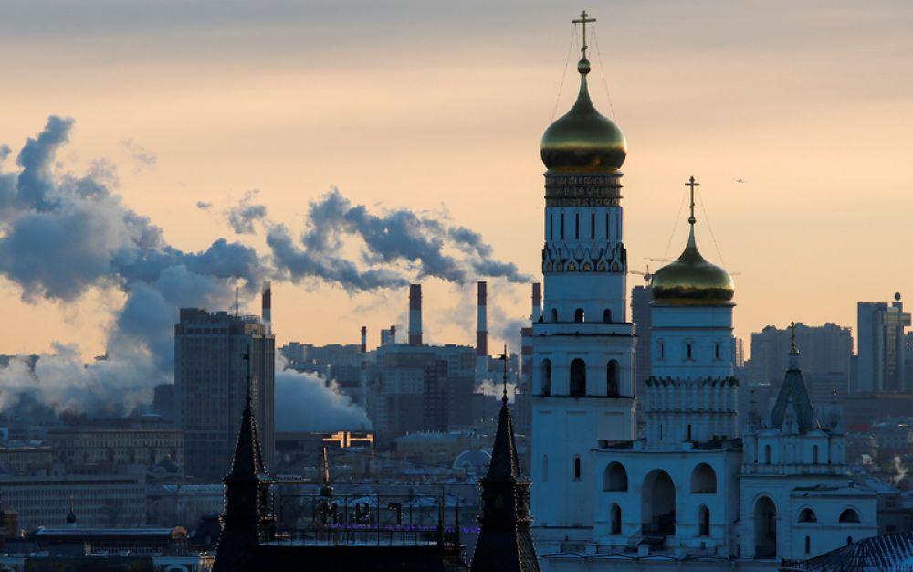 Морозный день в Москве, 9 января 2018 года.