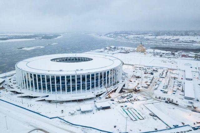Так выглядела нижегородская арена в конце декабря 2017 года.