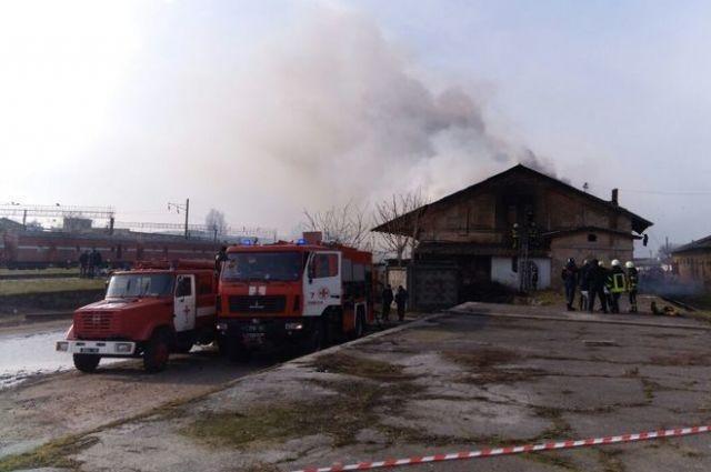 В Одессе произошло возгорание на складах охраны «Укрзализныци»
