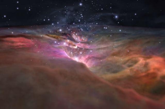 NASA опубликовало видео полета сквозь туманность Ориона