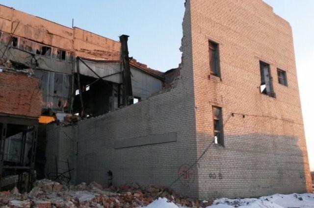 Под Копейском произошло обрушение здании котельной