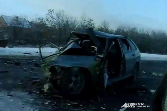 В Оренбурге на объездной дороге произошло массовое ДТП