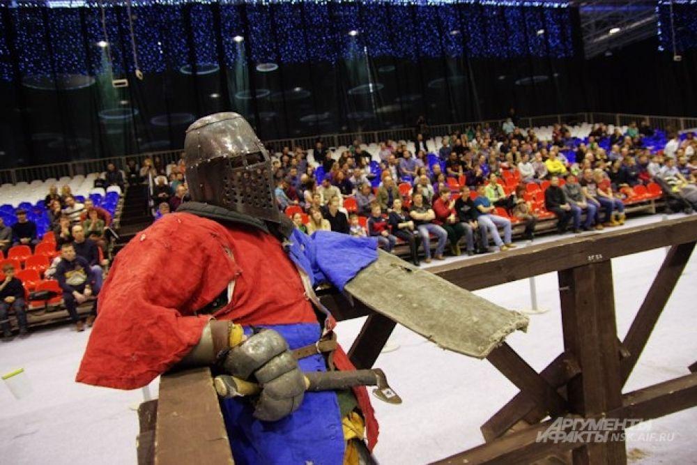 От травм защищал рыцарский щит.