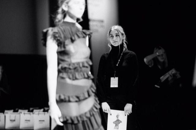 Краснодарский дизайнер (справа) на Неделе моды в Санкт-Петербурге.