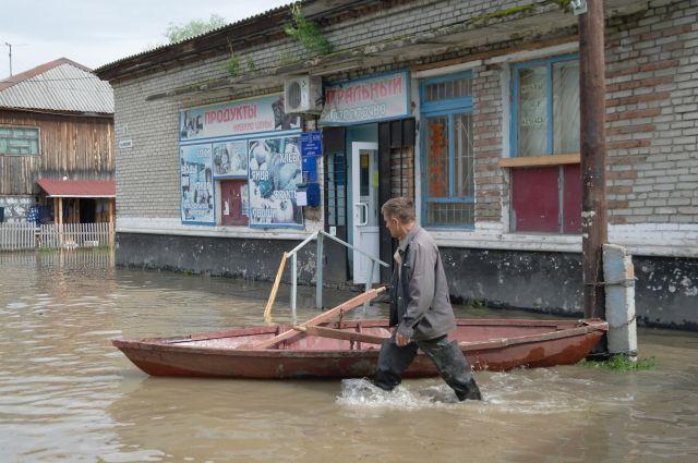 Наводнение в пос. Затон.