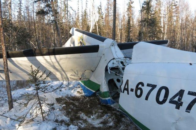 Страшные последствия дефекта - кадр с места падения самолёта под Нельканом.