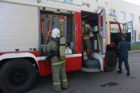Пожарные прибыли на место спустя девять минут