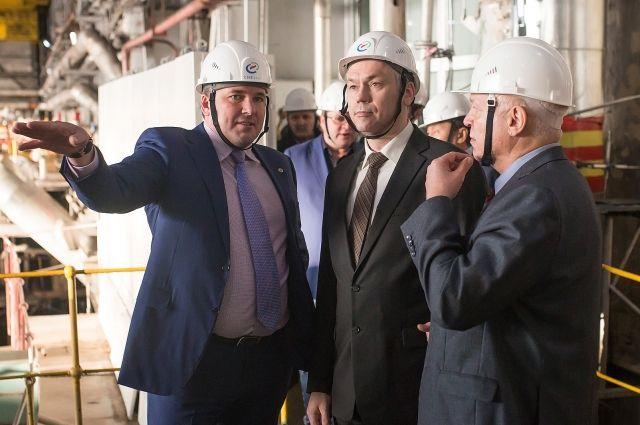 Для Андрея Травникова провели экскурсию по ТЭЦ-3.