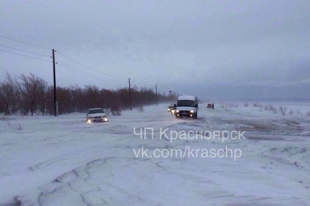 Вот так выглядит трасса Красноярск-Абакан.