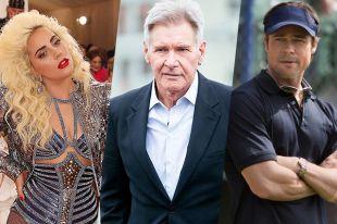 Леди Гага, Харрисон Форд, Брэд Питт.