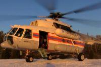 Специально для рейда был задействован вертолет МЧС России.
