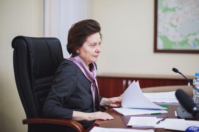 Губернатор Югры Наталья Комарова с рабочим визитом в Нягани.