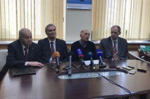 Слева направо: Владимир Соловьёв, Павел Богатырёв, Василий Шкурбицкий, Илья Резник.