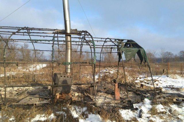 На острове Низковском в Павловском районе сгорел мужчина.