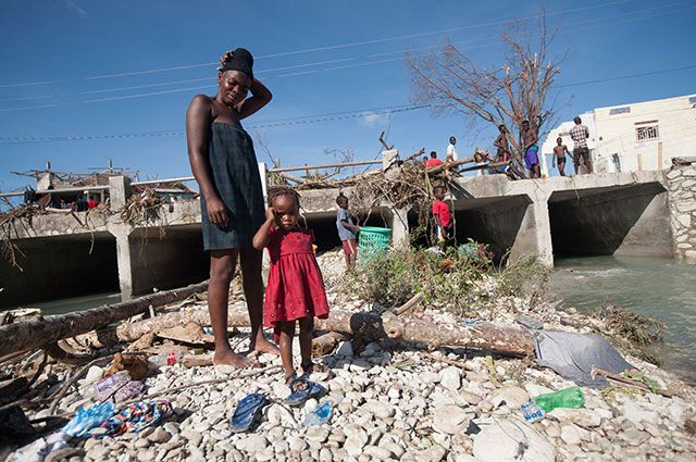 Гаити после урагана Мэтью, 2016 год.