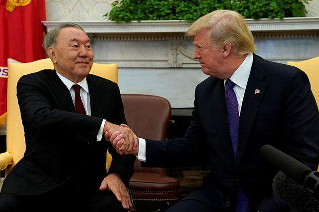 Нурсултан Назарбаев и Дональд Трамп.