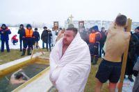 Новосибирцы празднуют Крещение.