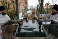 Освящение воды на Крещение главой Алтайской митрополии Сергием