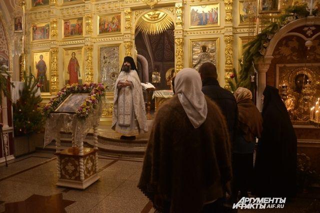 Оренбуржцы отмечают Крещение Господне .