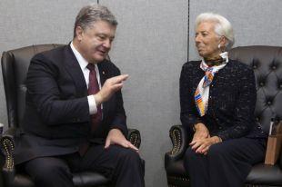 Президент Украины Петр Порошенко и директор-распорядитель Международного валютного фонда Кристин Лагард.