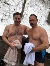 Нардеп Дмитрий Лубинец окунался вместе с другим народным депутатом - Олегом Барной.
