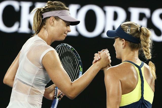 Шарапова завершила выступление на Australian Open после проигрыша Кербер