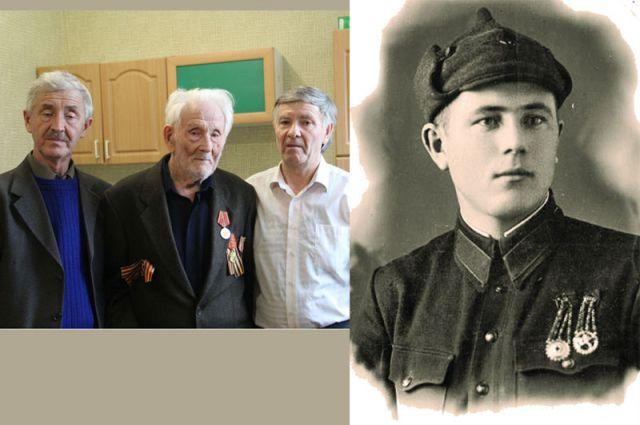 Степан Васильевич с сыновьями Николаем (слева) и Геннадием (справа). На правом фото: 1939 год, служба в кавалерийской части НКВД.