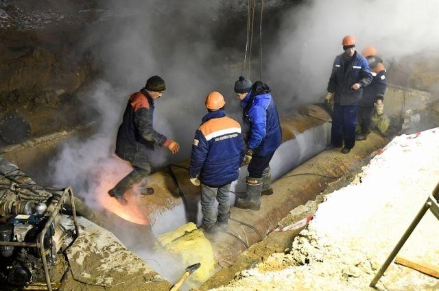 Ремонтные работы натепловых сетях вЗаволжском районе Твери завершены