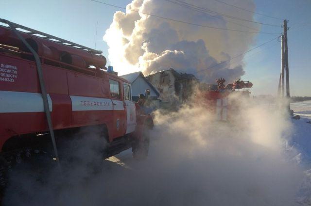 Площадь пожара составила 125 квадратных метра.