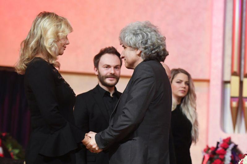 Вдова композитора Светлана Шаинская, его сын Вячеслав Шаинский и заслуженный артист России Симон Осиашвили.