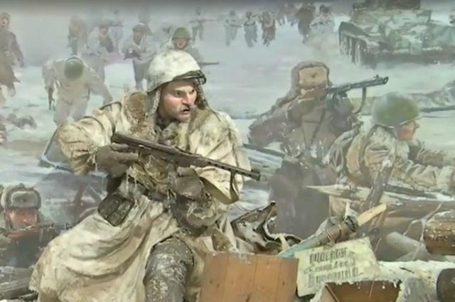 Скульптура дагестанского бойца вошла впанораму в северной столице
