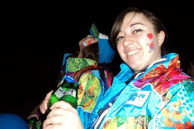 Мария следила за порядком на трибунах во время Олимпиады в Сочи.
