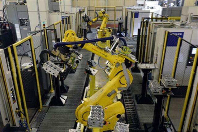 Промышленное производство в России выросло за год на 1%